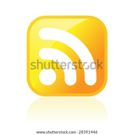 RSS symbol on white background