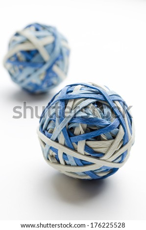 Rubber band balls  - stock photo