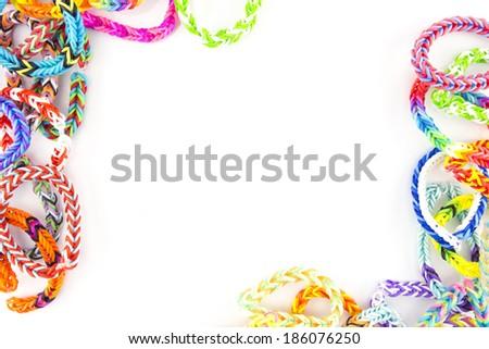 rubber bands bracelets - stock photo