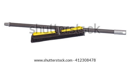 rubber brush to sweep isolated on white background - stock photo