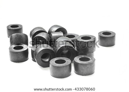 Rubber bush Industrial use. on white background.