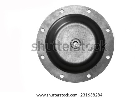 Rubber diaphragms rubber for Industrial on white background.