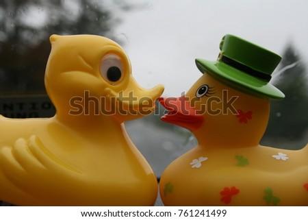 Rubber Ducks Kiss Stock Photo (Royalty Free) 761241499 - Shutterstock