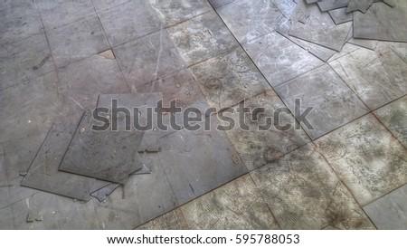 Rubber Floor Tile Deterioration Stock Photo Edit Now 595788053