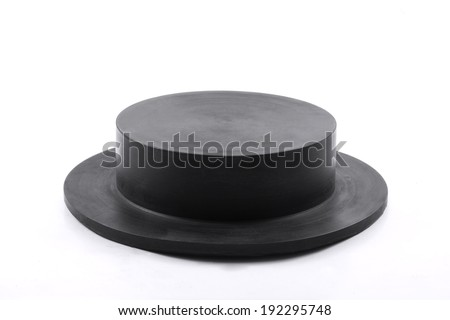 Rubber for industry isolated on white background