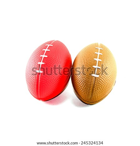 Rubber pets ball isolated on white - stock photo