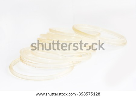 Rubber seal isolated on white background.