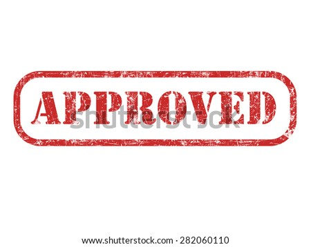 Rubber Stamp - Approved isolated at white   - stock photo