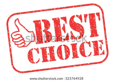 """Rubber stamp """"best choice"""" on white - stock photo"""