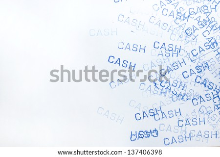 rubber stamp cash pattern