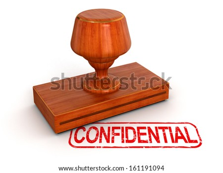 Rubber Stamp Confidential - stock photo