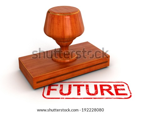 Rubber Stamp future  - stock photo