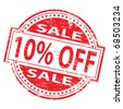 "Rubber stamp illustration showing ""10% Off"" text - stock photo"