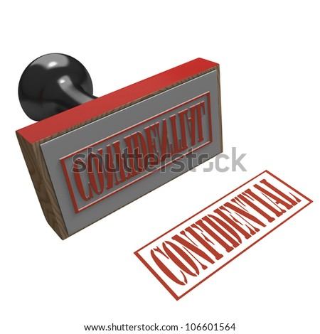 Rubber Stamp on a white background with message of Confidential