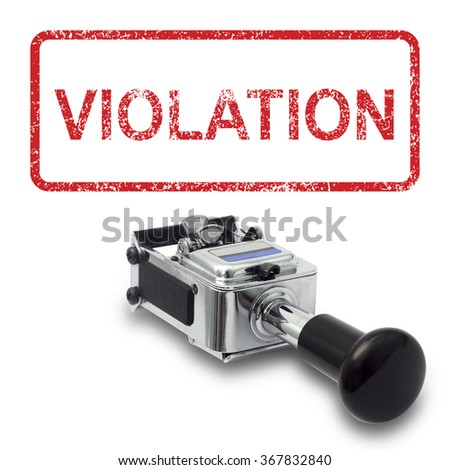 Rubber Stamp VIOLATION concept on a white background - stock photo