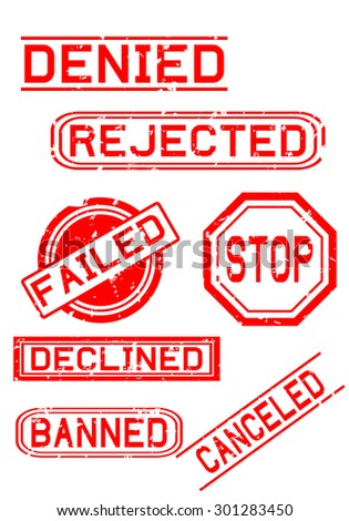 Rubber Stamps for Negative Feedback - stock photo
