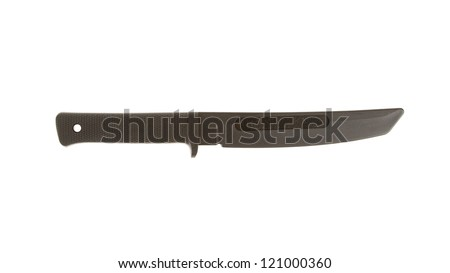 Rubber training knife isolated on a white background