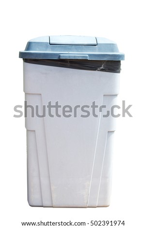 rubbish bins isolated on white