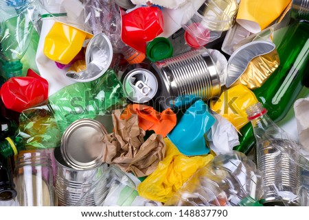 Rubbish that can be recycled - stock photo