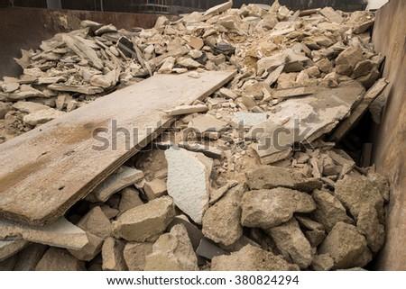 rubble container - stock photo