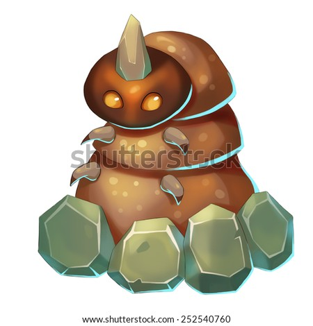 Rubble Monster - Creature Design - stock photo