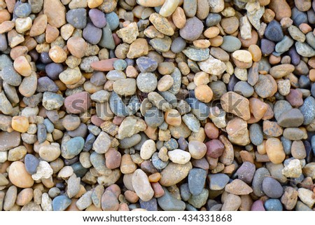 rubble stones of different colors - stock photo