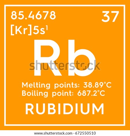 Rubidium Alkali Metals Chemical Element Mendeleevs Stock