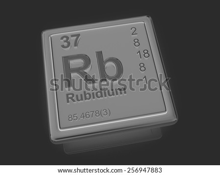 Rubidium. Chemical element. 3d