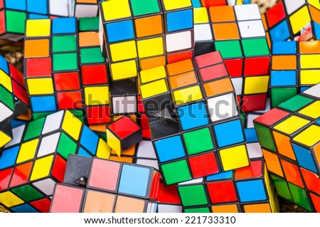 rubik cubes - stock photo
