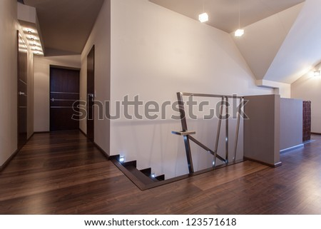 Ruby house - Second floor in new and modern house - stock photo