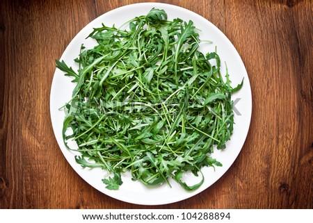 Ruccola salad - stock photo