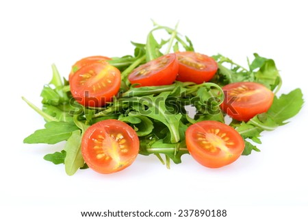 Ruccola with tomatos