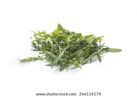 rucola on white - stock photo