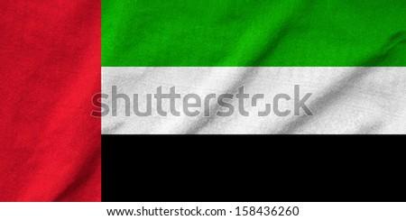 Ruffled United Arab Emirates Flag - stock photo