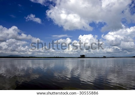 Rufiji River in Southern Tanzania - stock photo