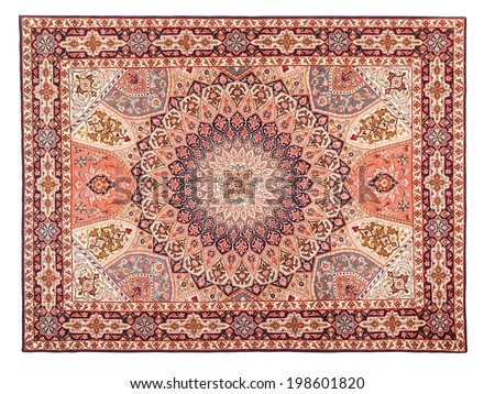 Rug. Classic Arabic Pattern. Asian Carpet Texture  - stock photo
