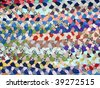 Rug from scraps - stock photo