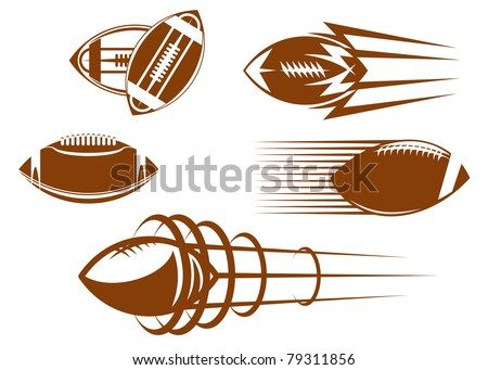 Rugby and american football symbols for mascots or sports design, such a logo. Vector version also available in gallery