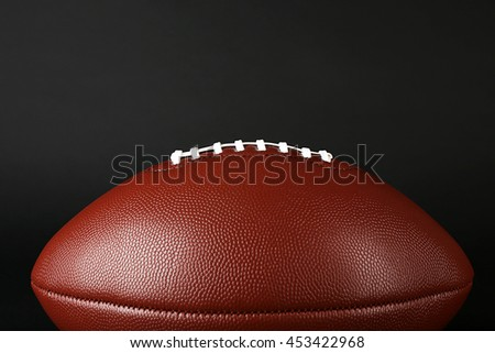 Rugby ball, closeup