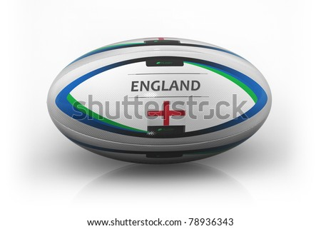 Rugby Ball  England - stock photo