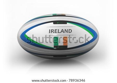 Rugby Ball  Ireland - stock photo