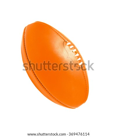 rugby ball, isolated on white - stock photo