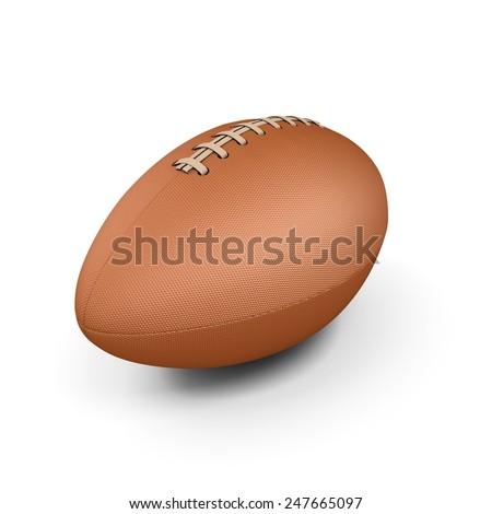 Rugby ball isolated on white background. 3d illustration.