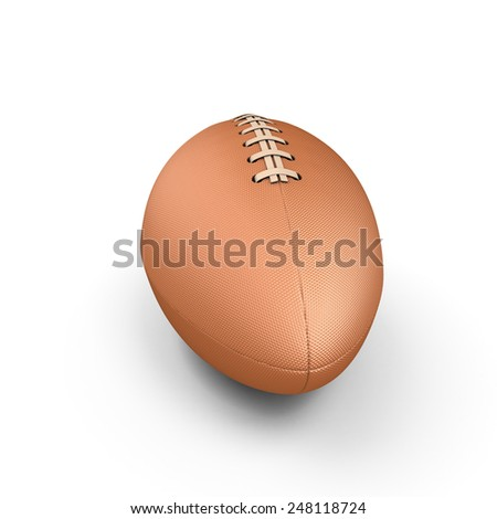 Rugby ball isolated on white background. 3d render images. - stock photo