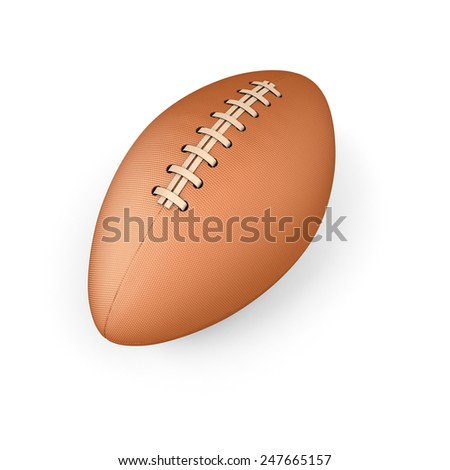 Rugby ball on a white background. 3d render image.