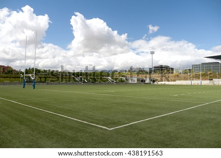 Rugby football playing field corner