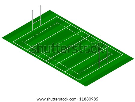 Rugby Pitch - Isometric View