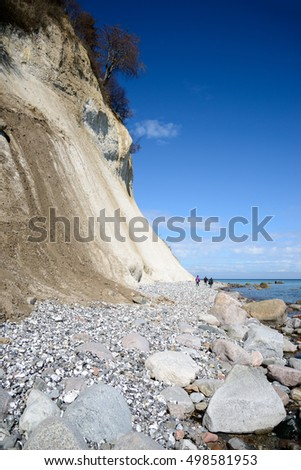 Rugen island. The shore of the Baltic sea