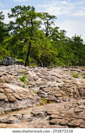 Rugged Landscape at Petit Jean State Park - stock photo