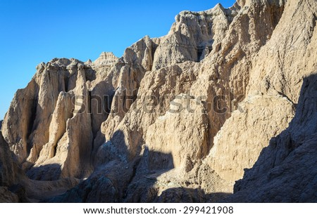 Rugged Landscape of Badlands National Park